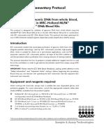 MLPA Protocol One-Tube MDP-V006