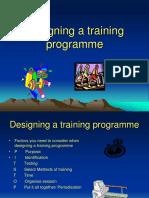 designing a training programme