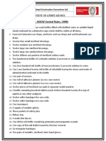 Bocw First Aid List