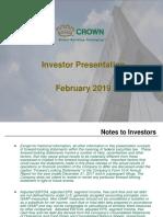 CCK investor presentation