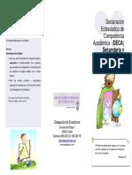 Folleto DECA Secundaria y Bachillerato