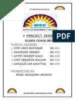 109964625 Slider Crank Mechanism Term Project Report