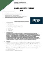Plan de Trabajo Del Municipio Escolar