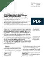 La estabilidad emocional y su relación con el daño psíquico en mujeres españolas víctimas de violencia de género