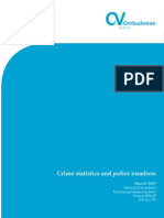 Crime Statistics and Police Numbers Report