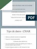 Tipos de Datos Oracle