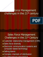 Sales Force Management Challenges in the 21st Century