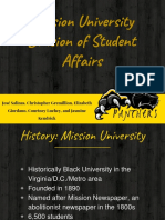 mission university divison of student affairs