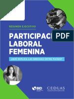 Participación Laboral Femenina Qué Explica Las Brechas Entre Países Resumen Ejecutivo Es Es(1)