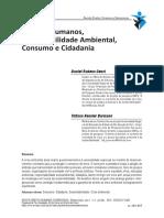 Direitos Humanos, sustentabilidade ambiental, consumo e cidadania