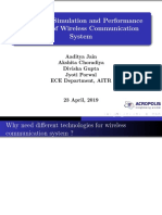 Modelling, simulation and performance analysis of wireless communication system
