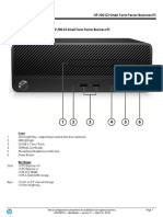 Especificaciones PC