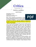 André Barata - Introdução à Estética