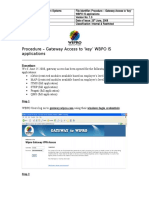 Gateway Access - WBPO is Applications