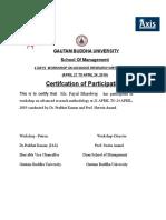 Certifcation of Participation