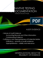 Substantive Testing and Documentation
