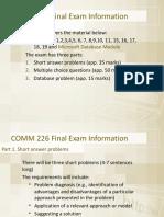 226 Final Exam Information w 2019