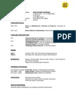 Modelo de Curriculum Cronológico