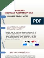 Sistema Binario-mezclas Azeotropicas