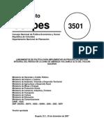 Conpes 3501 Proceso de Gestion Integral Volcan Galeras