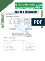 Ficha Propiedades de La Multiplicacion Para Tercero de Primaria