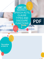 INDIRECT SPEECH ACTS, CLAUSE TYPES AND DISCOURE FUNCTIONS