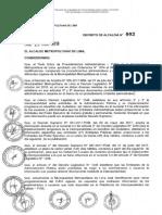 Decreto Alcaldia 003 2018 Mml