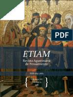 Ubierna Barenstein ETIAM, Revista Agustiniana de Pensamiento Volumen XII, Número 13 2018