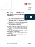Anexa Nr. 1 – Bibliografie Minimală Pentru Susținerea Interviului (1)