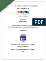 Ruchi Songare - Big Bazaar - Customer Satisfaction Analysis - Copy.docx