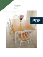 Please, No Empty Chairs - FHE Lesson
