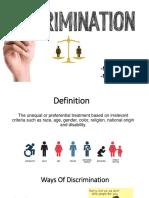 Presentation on Descrimination