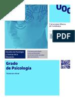 Triptico Del Grado en Psicologia UOC