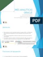 Funciones Analiticas Oracle
