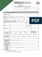 Formato 1 Ficha de Recepcion de Documentos de Salud