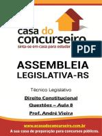 Questoes Aula 8 Al Rs Edital 2018 Direito Constitucional Andre Vieira