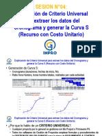 Clase 04 Explicación de Criterio Universal Para Extraer Los Datos Del Cronograma y Generar La Curva s Recurso Con Costo Unitario.