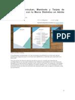 Crea Un Currículum y Tarjeta en InDesign