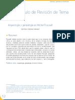 arqueología y genealogia en Foucault