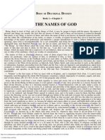 3. Of the Names of God.