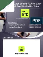 Usability Testing of Nike Training Club Apps