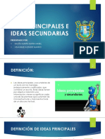 Ideas Principales e Ideas Secundarias PPT