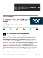 Isaac Asimov Asks How Do People Get New Ideas - MIT Technology Review
