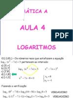 Matemática PPT - Aula 04 - Logaritmos