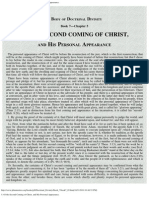 5. of the Second Coming of Christ, And His Personal Appearance.