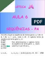 Matemática PPT - Aula 06 - Sequências PA