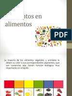Pigmentos en Alimentos2018