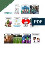 Calendario Meses Del Año  con imagenes para niño