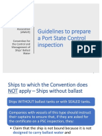 Ballast - ANAVE Summary of PSC Guidelines and Recommendations