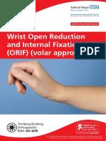 Wrist Open Reduction & Internal Fixation (ORIF) (Volar Approach) Feb 18.pdf